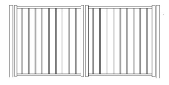 48 Inch High Solon Residential Double Gate-Pool