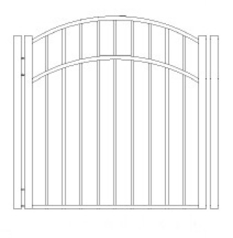 42 inch Storrs Residential Wide Arch Gate