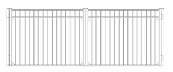 42 Inch Storrs Residential Wide Double Gate