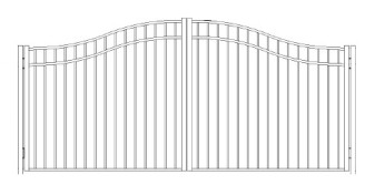 42 Inch Storrs Residentail Wide Woodbridge Arched Double Gate