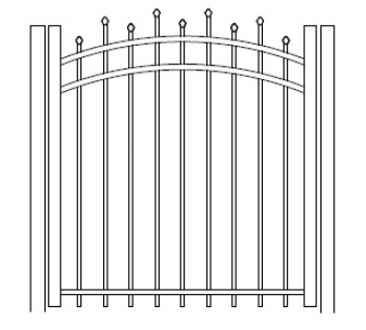 48 Inch Hiram Residential Arched Gate