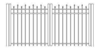 48 Inch Hiram Residential Double Gate