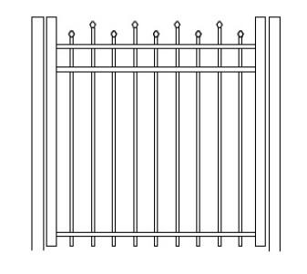 48 Inch Hiram Residential Standard Gate