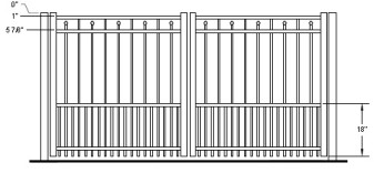 48 Inch Windham Residential Puppy-Picket Double Gate