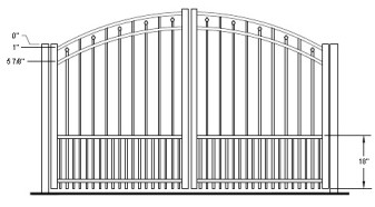 48 Inch Windham Residential Puppy-Picket Rainbow Arched Double Gate