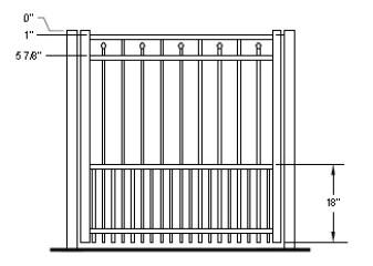 48 Inch Windham Residential Puppy-Picket Standard Gate