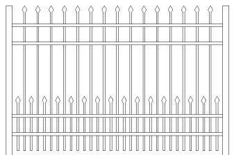 Bennington Doggie Panel Aluminum Fence