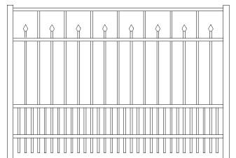 Essex Doggie Panel Aluminum Fence
