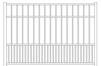 Storrs Doggie Panel Aluminum Fence