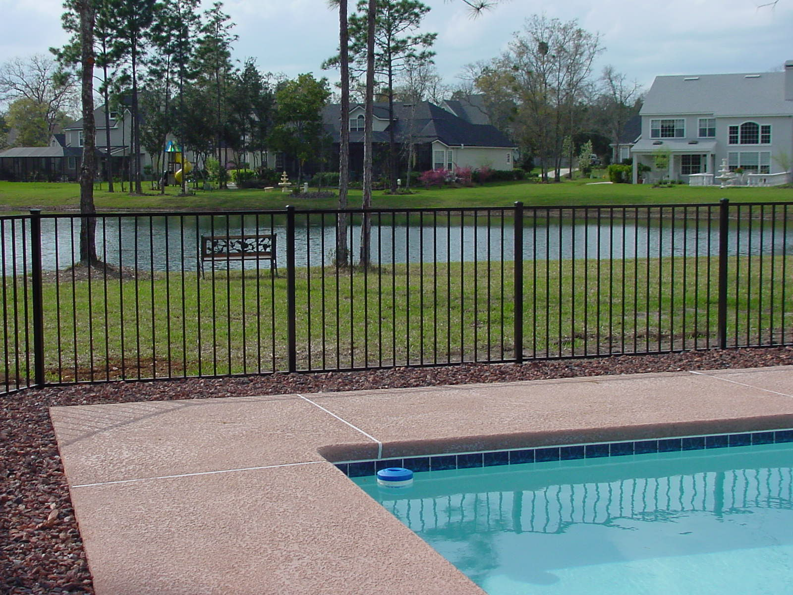 Specrail residential aluminum fence railing products derby residential aluminum fence baanklon Images