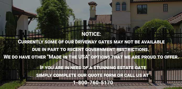 Aluminum Driveway Gates, Driveway Entrance Gate |