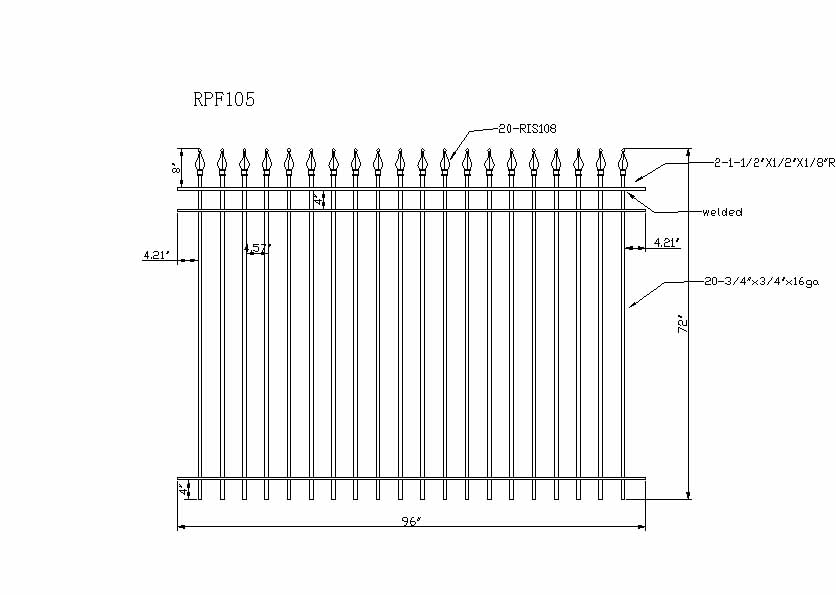 Wrought Iron Railing Section | Tyres2c