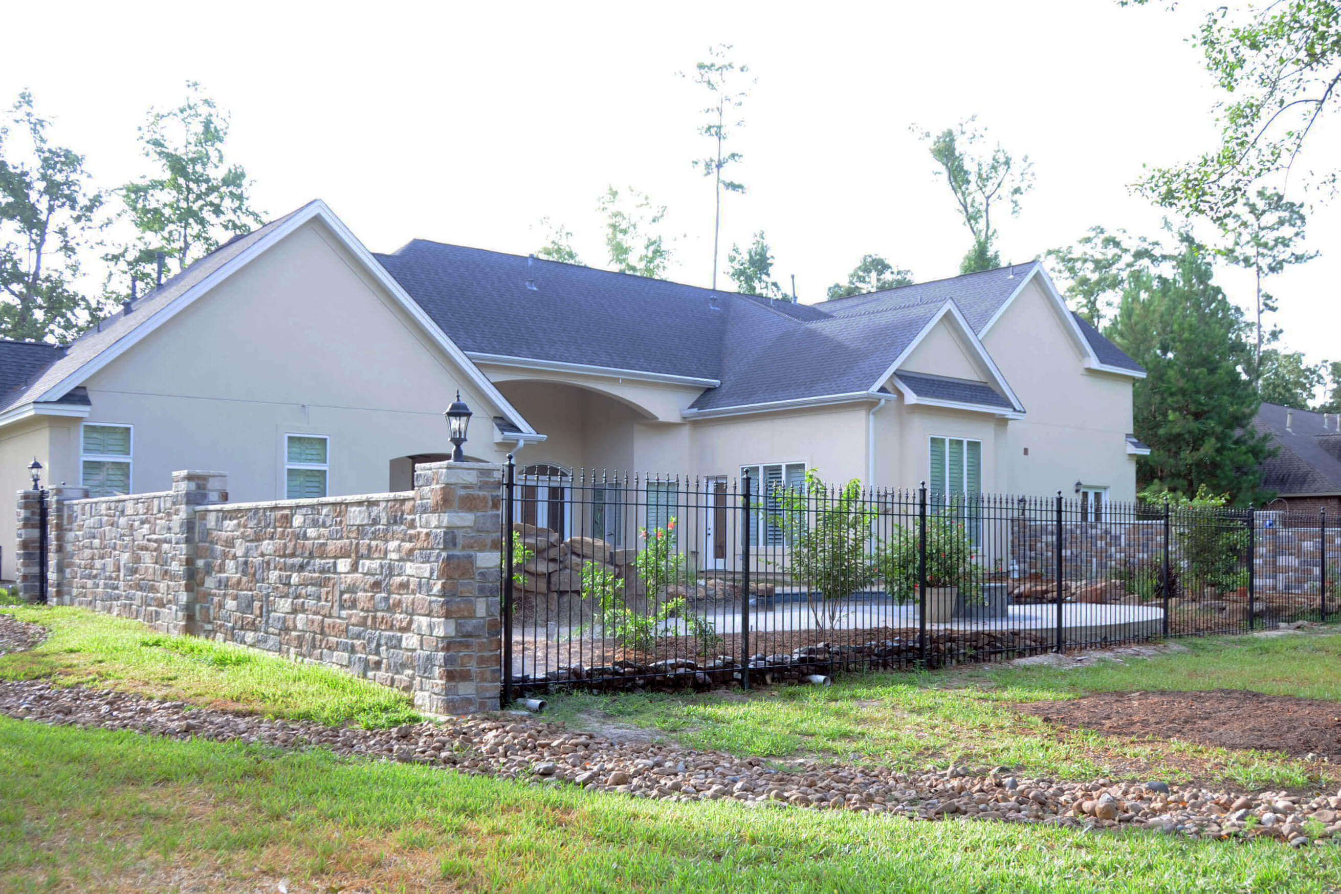 residential grade wrought iron fence