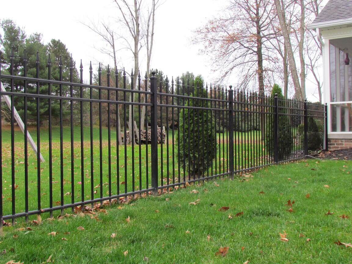 Residential aluminum fence decorative fencing for Residential pictures