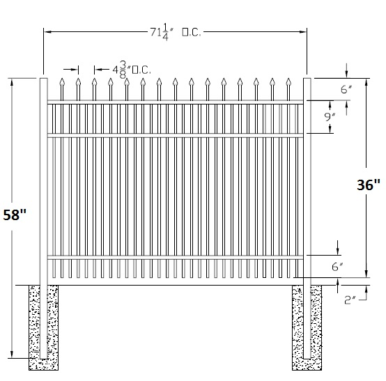 Falcon Residential Aluminum Fence