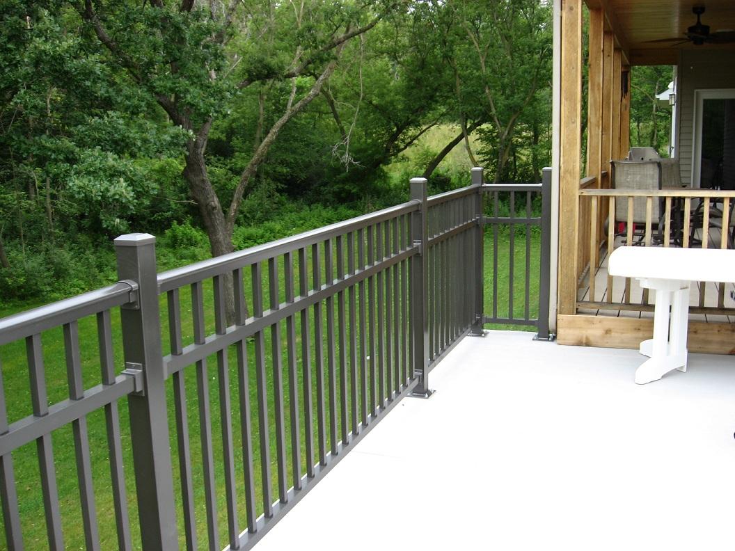 Avon aluminum deck railing