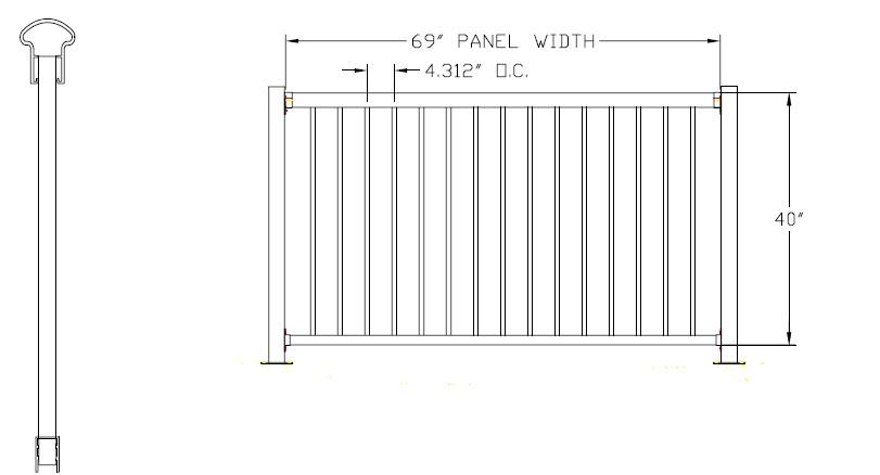 Bellaire Aluminum Deck Railing
