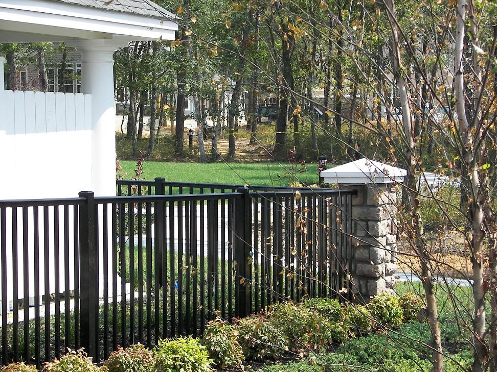 bridgeport breadloaf top aluminum railing