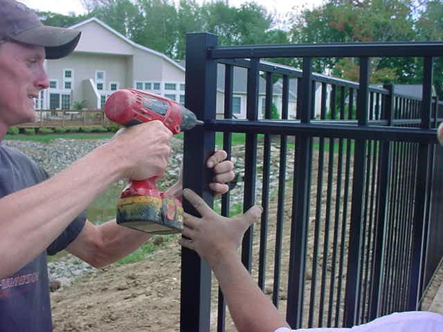 Installing an Aluminum Fence