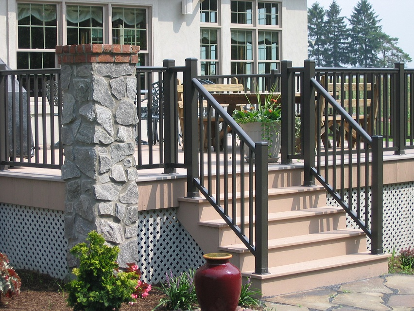 aluminum deck railing designs top posts build balusters