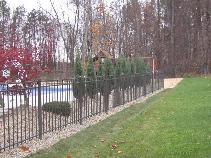 afs aluminum pool fence styles