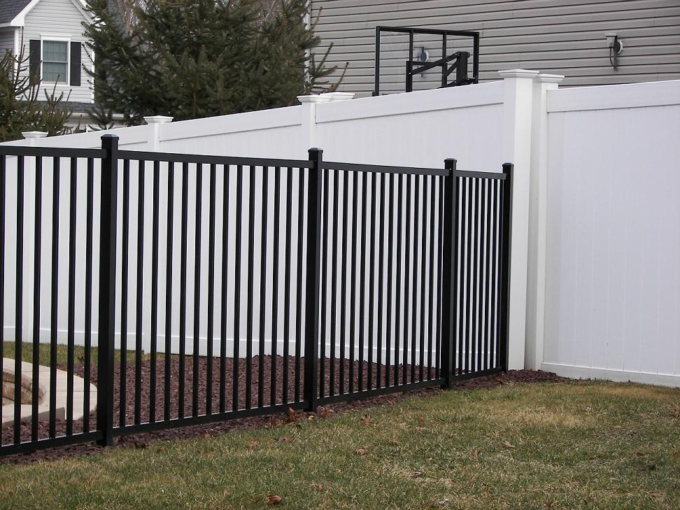 Specrail quick ship aluminum fence styles