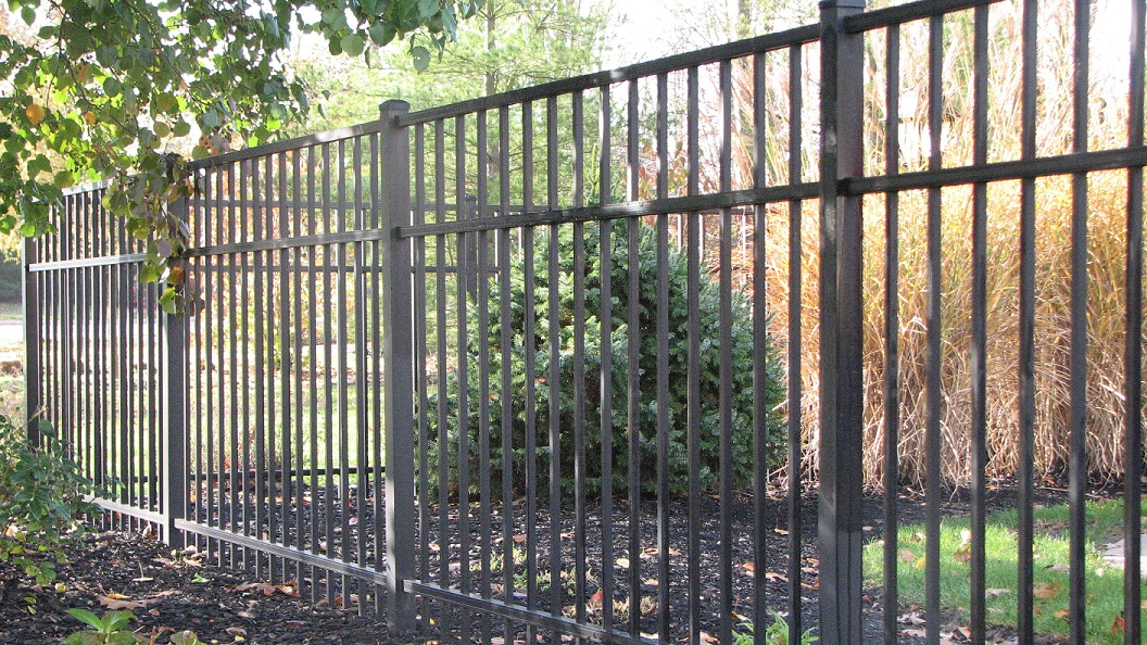 Quick ship fencing residential aluminum fence