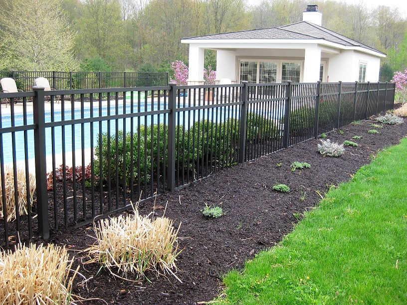 Aluminum pool fencing decorative fences