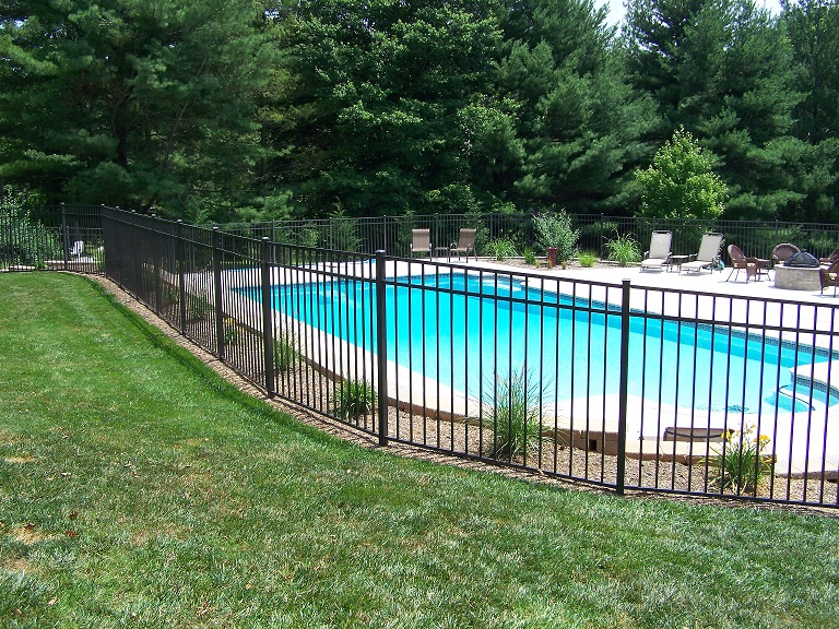 Specrail aluminum pool fence and gates