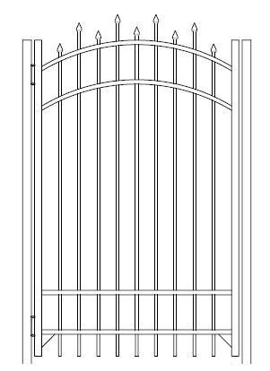 72 Inch High Berkshire Residential Aluminum Fence