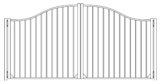 42 Inch Derby Commercial Aluminum Fence