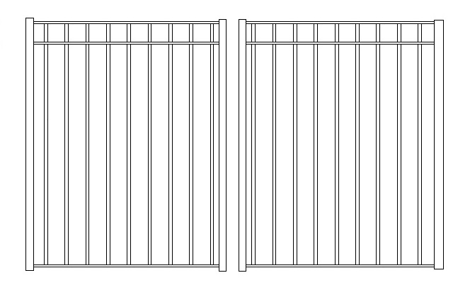 54 Inch High Rppf10 Residential Iron Pool Fence