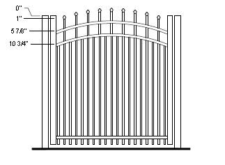 60 Inch Ravenna Residential Aluminum Fence