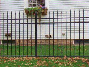 aluminum fence with quad finials