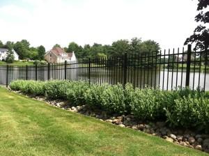 Pre assembled aluminum fence panels